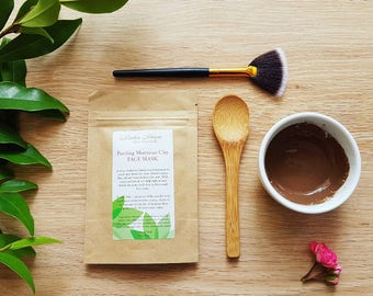 Purifying Moroccan Clay Face Mask Set. Clay Face mask. Detox face mask. Natural skincare.