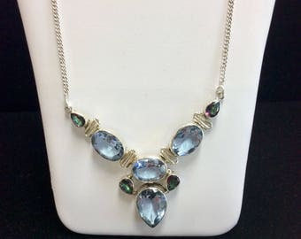 Alexandrite & Mystic Topaz Sterling Silver Necklace