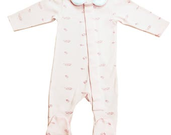 Pink Feather Magnetic Onesie