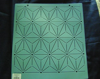 Sashiko Japanese Embroidery/Traditional Quilting Stencil 4.5 in. By 6 in. Hemp Leaf Background/Quilting