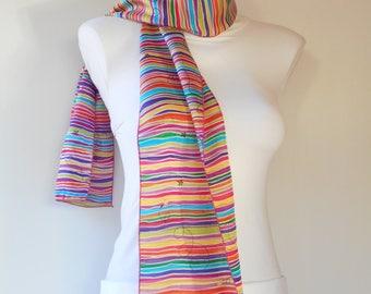 Silk multicolored tones scarf