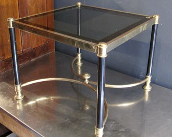Vintage Brass and Glass Coffee Table - Hollywood Regency - Maison Jansen Style