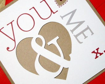 1 Pack - Christmas / Valentine / Anniversary Card Kit - You & Me