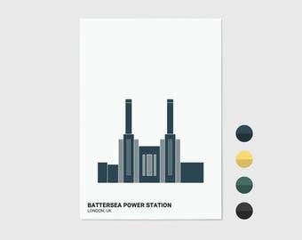 Battersea Power Station, London Print | London Artwork | London Print | Architecture Print | Battersea Print