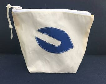Sunblock Bag -Blue Lobster Claw - Made from Recycled Sail