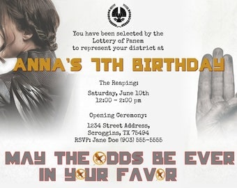 Hunger Games Invitation
