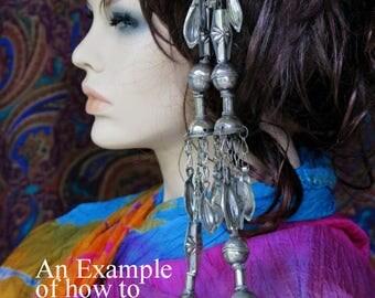 TURKMEN TRIBAL TASSEL - Extra Long Vintage Joghir Bell Tassel from Turkmenistan