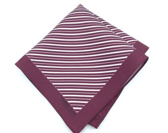 Red Slopes 100% Silk Pocket Square