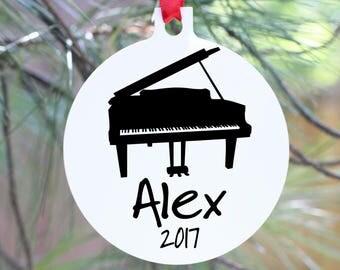 Pianist Personalized Ornament, Piano Ornament, Personalized Piano Christmas Ornament, Piano Player Christmas Ornament, Pianist Gift, Piano