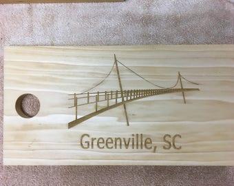 Laser Engraved Greenville Poplar Cutting and Serving Board Set