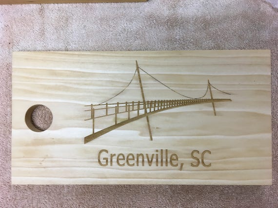 Laser Engraved Greenville Poplar Cutting and Serving Board Set