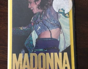 Madonna The Virgin Tour VHS  Video Hard Shell