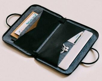 Leather Laptop Bag, Laptop Briefcase, Laptop Case, Leather Messenger, Slim Briefcase, Messenger Bag, Black Laptop Briefcase, Leather Bag