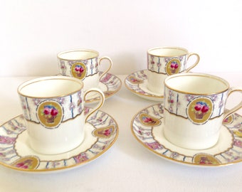 Aynsley Demitasse Cups and Saucers England