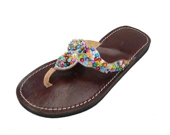 Oriental leather shoes Orient sandals-Women
