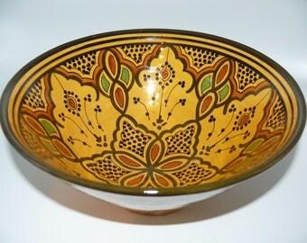 Moroccan Oriental ceramic dish bowl Fruit salad Cereal Ø 30 cm model Irem