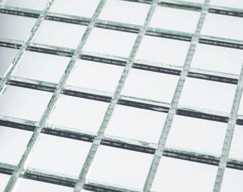 "12 sheets of kitchen backsplash wall mirror glass mosaic tiles 12"" x 12"""
