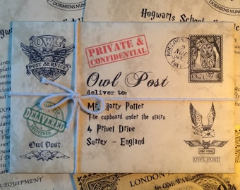 """Harry Potter Gift - A """"Lost in the Owl Post"""" Harry Potter Personalized Hogwarts Acceptance Letter"""