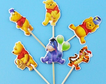 Winnie the Pooh and Friends Cupcake Toppers 12pcs   AH28