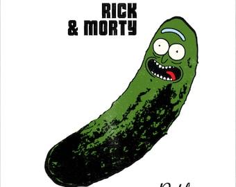 Rick and Morty/Velvet Underground and Nico (Andy Warhol) 'Vinyl Record Album Cover' Mash Up Parody Art Print