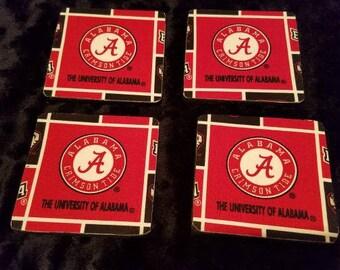 Alabama Crimson Tide 4 Pack Coaster Set