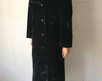 Fantastic Long Black Faux Fur Coat Soft And Comfy With Big Warm Hood Cold Season Women's Size Medium.