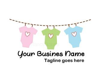 Embroidery Logo - Sewing logo - Baby boutique logo - Premade Baby boutique logo - logo design - unique Logo Design