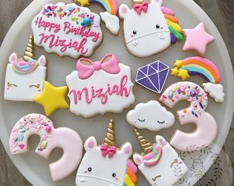 Unicorn Cookies Birthday Set