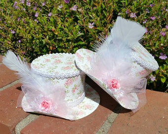 Alice In Wonderland Party Hats, Shabby Chic Hat, Party Hat