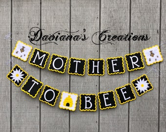 Mother to be Babyshower banner Bumble bee theme