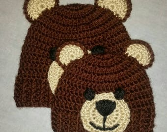 Child Size Teddy Bear Beanie