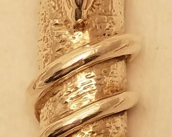 Vintage Sterling Judaic Mezuza Hand Made With Rings