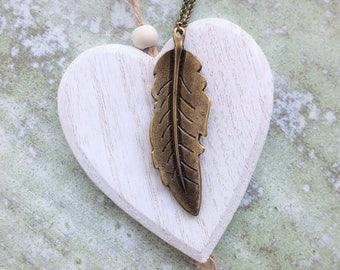 Long Pendant leaf Necklace Extra Long Necklace Boho Necklace Bronze Metal Pendant Bohemian Long Statement Necklace