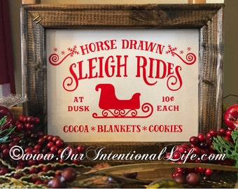 Horse Drawn Sleigh Rides Sign