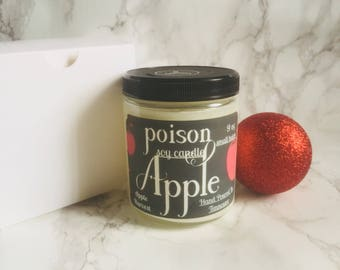 Poison Apple Candle - Apple Harvest Candle - Soy Wax Candle- Scented Soy Candle - Apple Scented Candle - Scented Candle - Candles - Candle -