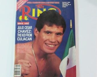 The Ring Magazine August 1988 Julio Cesar Chavez
