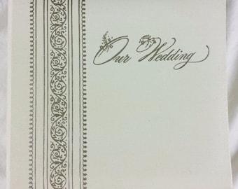 "Wedding Photo Album Vintage Small 3 x 5"" Binder Guest Book 1970 Scrapbook Empty"