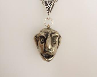 Silver pendant Troll