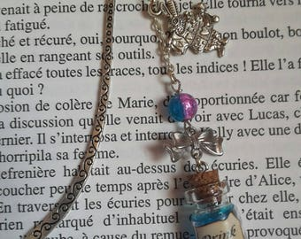 """Bookmarks inspired by Alice in Wonderland, blue """"Drink Me"""" potion"""