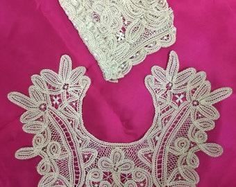 Antique Crochet Baby Bonnet &Collar