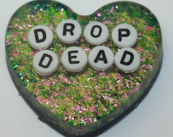 Drop Dead Heart Brooch