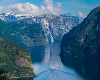 Fjords / Norway / Aurland / Aurlandsfjord / Wall Art / Home and Office Decor / Travel Photography