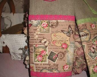 Bag for Remover spirit vintage linen and lace ROSE
