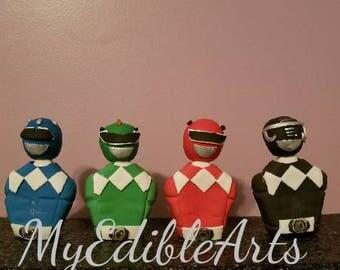 Power Ranger Cake Toppers