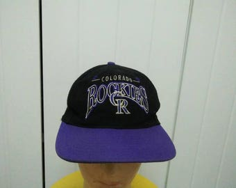 Rare Vintage COLORADO ROCKIES Spell Out Embroidered Cap Hat Free size fit all