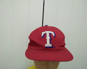 Rare Vintage TEXAS RANGERS Big Logo Embroidered Cap Hat Free size fit all