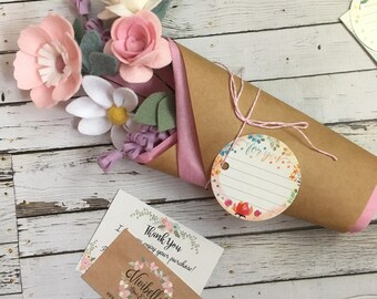 Felt flowers, mothers day gift, lilac felt flowers, mothers day flowers, wedding bouquet, floral decor, flower arrangements, wild flowers