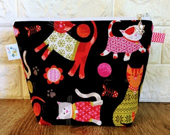 Knitting Project Bag, Knitting Bag, Sock Knitting Bag, Project Bag Small, Yarn Bowl, Knitting Basket, Yarn Tote, knitting tote bag