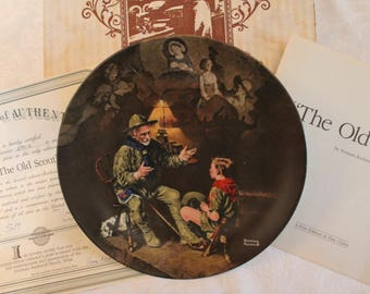 """1990 Norman Rockwell's """"The Old Scout"""" 8.5"""" Collector Plate - Heritage Series in Original Box"""