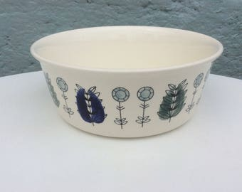 Vintage large Egersund Norway 1950s tureen bowl